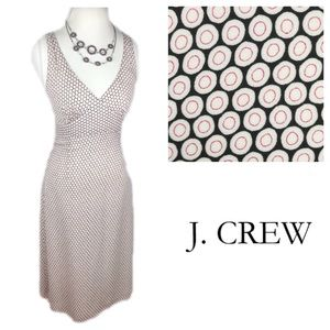 J. Crew Sleeveless Circle Print Silk Dress
